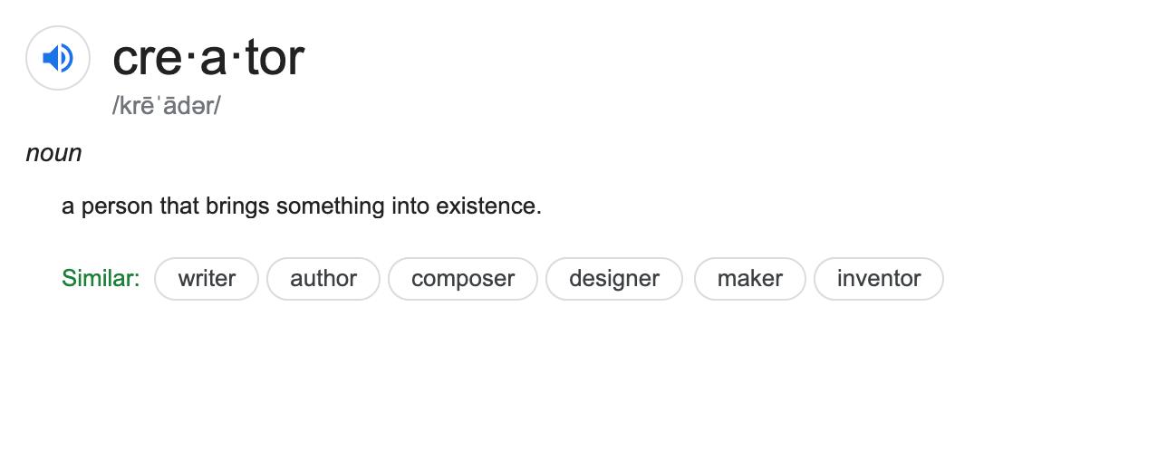 Creator Definition
